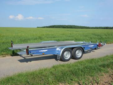 kippbarer Autotransporter, mit Seilwinde, Tiefladerausführung, AK 3000 B Royal Blue ()