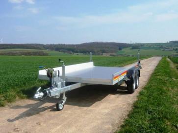 PKW-Autotransporter, mit Seilwinde, Tiefladerausführung, AP 3540/200 ()