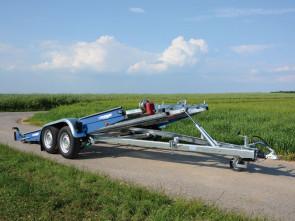 kippbarer Autotransporter, mit Seilwinde, Tiefladerausführung, AK 3500 B Royal Blue ()
