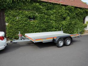 PKW-Autotranporter, mit Seilwinde, Tiefladerausführung, AP 2740/200 ()