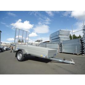 Stahlgitterüberfahrwand inkl. 2 Heckschiebestützen (Höhe: ca. 1.400 mm, Tragkraft: ca. 550 kg)