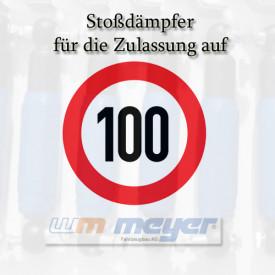 100 km/h Ausführung (Radstoßdämpfer, Halter, Reifen, Montage)