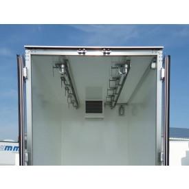 2 Rohrbahnen für Fleischtransport inkl. Dachverstärkung, Innenhöhe 2200 mm