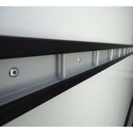 Stäbchenzurrleiste Aluminium mit Gummischutz einreihig rechts / links (Höhe bitte bei Bestellung angeben!)