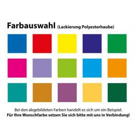 Polyesterhaube mit Metalliceffect oder farbig